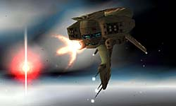 Hive Frigate fires one of its main cannon
